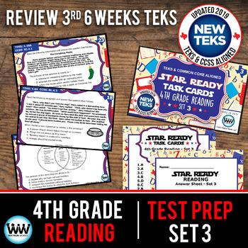 STAR READY 4th Grade Reading Task Cards ~ SET 3 {TEKS-aligned}
