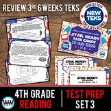 4th Grade STAAR Reading Review Task Cards Set 3 New ELAR TEKS