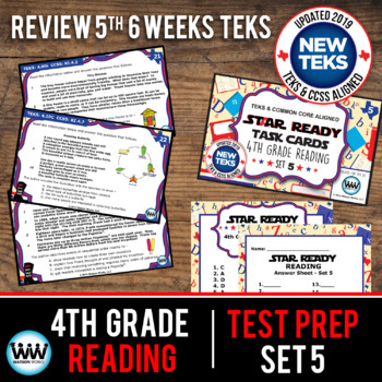 STAAR WARS 4th Grade Reading Task Cards ~ SET 5