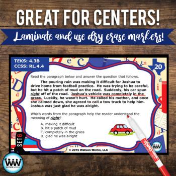 STAAR WARS 4th Grade Reading Task Cards ~ SET 6