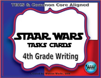 STAR READY 4th Grade Writing Task Cards End-of-Year Review Game - Set 1