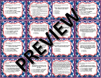 STAR READY 4th Grade Writing Task Cards End-of-Year Review Game - Set 2