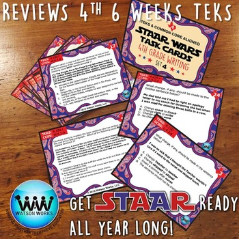 STAAR WARS 4th Grade Writing Task Cards ~ SET 4