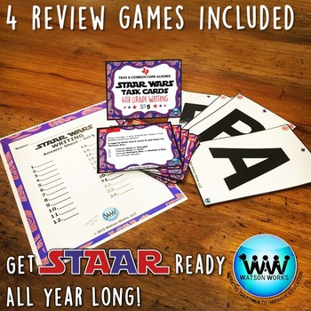 STAAR WARS 4th Grade Writing Task Cards ~ SET 5