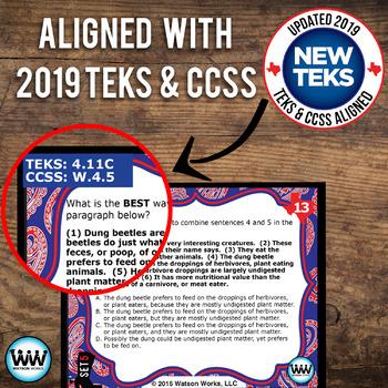 STAR READY 4th Grade Writing Task Cards ~ SET 5 {TEKS-aligned}