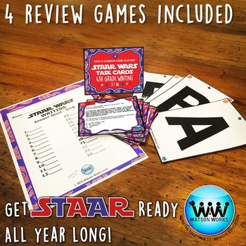 STAAR WARS 4th Grade Writing Task Cards ~ SET 6