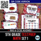 STAR READY 5th Grade Math Task Cards ~ SET 1 ~ QR Code Ver