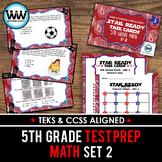 SET 2 - STAR READY 5th Grade Math Task Cards - CCSS / STAAR / TEKS-aligned