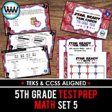 STAR READY 5th Grade Math Task Cards ~ SET 5 {TEKS-aligned}