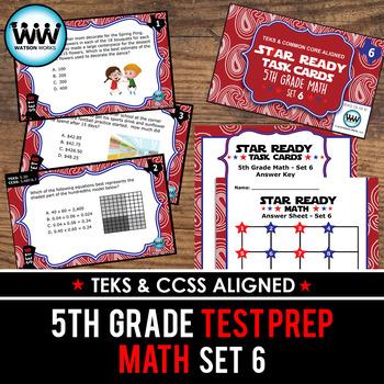 STAR READY 5th Grade Math Task Cards ~ SET 6 {TEKS-aligned}
