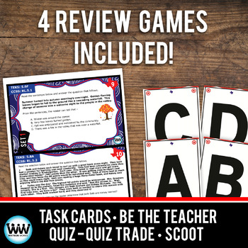 STAR READY 5th Grade Reading Task Cards ~ SET 1 {TEKS-aligned}