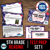 5th Grade STAAR Reading Review Task Cards Set 1 New ELAR TEKS