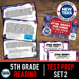 SET 2 - STAR READY 5th Grade Reading Task Cards - CCSS / STAAR / TEKS-aligned