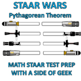 STAAR WARS - Pythagorean Theorem Worksheet - Test Prep - Star Wars