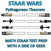 STAAR WARS - Pythagorean Theorem Worksheet - Test Prep - Star Wars