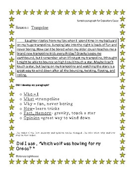 STAAR WRITING Expository:Mnemonic Device for Developing a Paragraph