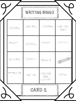 STAAR WRITING VOCAB REVIEW BINGO