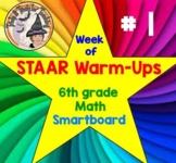 6th grade Math STAAR Warmups Grade 6 Test Prep for STAAR Smartboard #1