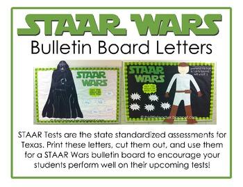 STAAR Wars Bulletin Board Letters & Taglines - {Free Download}