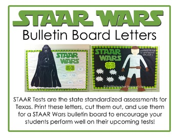 STAAR Wars Bulletin Board Letters & Taglines - {Free Download}
