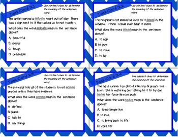 STAAR Word Meaning Task Cards