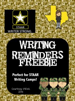 STAAR Writer Strong - Reminder Poster FREEBIE