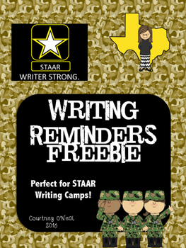 STAAR Writer Strong - Reminder Poster FREEBIE