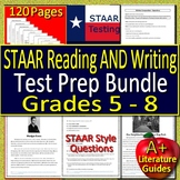 STAAR Writing AND STAAR Reading Test Prep Bundle for Grades 5, 6, 7 and 8