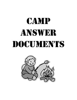 STAAR Writing Camp Write-A-Long Answer Document