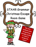 Christmas STAAR Writing Review Game Escape Room