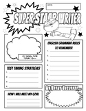 STAAR Writing Day Goal and Fun Sheet