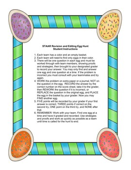 STAAR Writing Egg Hunt
