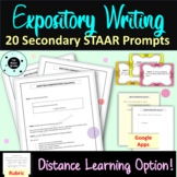 STAAR Writing Expository Prompts - Secondary - Test Prep -