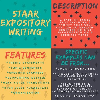 STAAR Writing - Expository Writing Poster