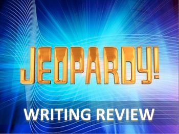 STAAR Writing - Jeopardy Review