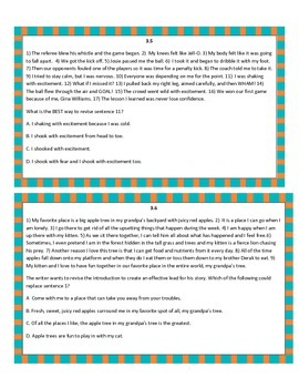 Texas STAAR Writing Part 3 with TEKS