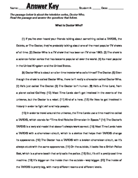 """STAAR Writing Passage — """"DOCTOR WHO"""""""