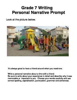 STAAR Writing Personal Narrative Prompts 7th Grade