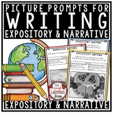 Writing Test Prep ELA Prompts Narrative Writing &  Expository Prompts 4th Grade