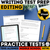 STAAR Writing Practice Test | Editing & Revising | Print & Google Forms