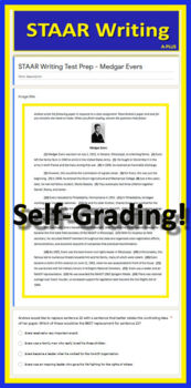7th Grade STAAR Writing Practice Tests - Prompts, Passages and STAAR Questions