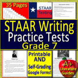 7th Grade STAAR Writing Revising & Editing Test Prep - Printable & SELF-GRADING!