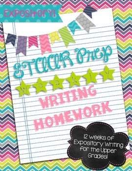 Expository Weekly Writing Homework