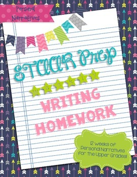 Personal Narrative Weekly Writing Homework