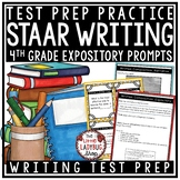 Writing Test Prep Revising & Editing Activities: STAAR Writing Prompts 4th Grade
