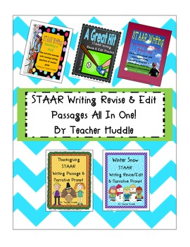STAAR Writing R/E All in One - 5 Practice Passages