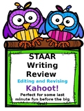 STAAR Writing Review: Editing and Revising Kahoot! Game Link