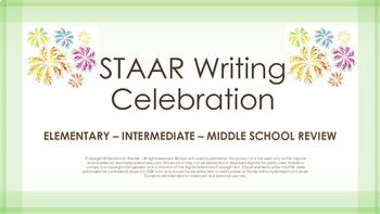 STAAR Writing Review - Elementary Intermediate Middle School
