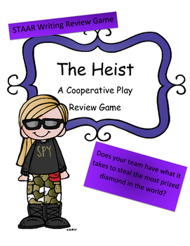 STAAR Writing Review Game: The Heist (Cooperative Team vs. Team)