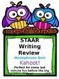 STAAR Writing Review: Homophones Quiz Kahoot! Game Link
